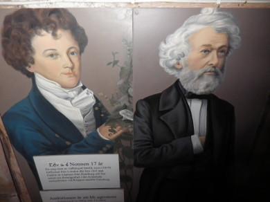 Porträtt av Edvard Nonnen, Degerberg Rackeby i Lidköpings kommun. Nonnen startade 1834 den första läroanstalten för lantbruksundervisning.